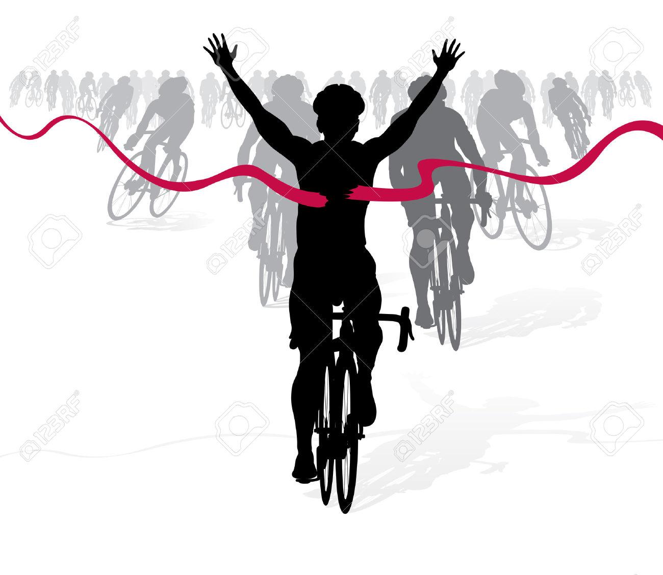 22388226 gagner cycliste traverse la ligne d arriv e dans une course banque d images